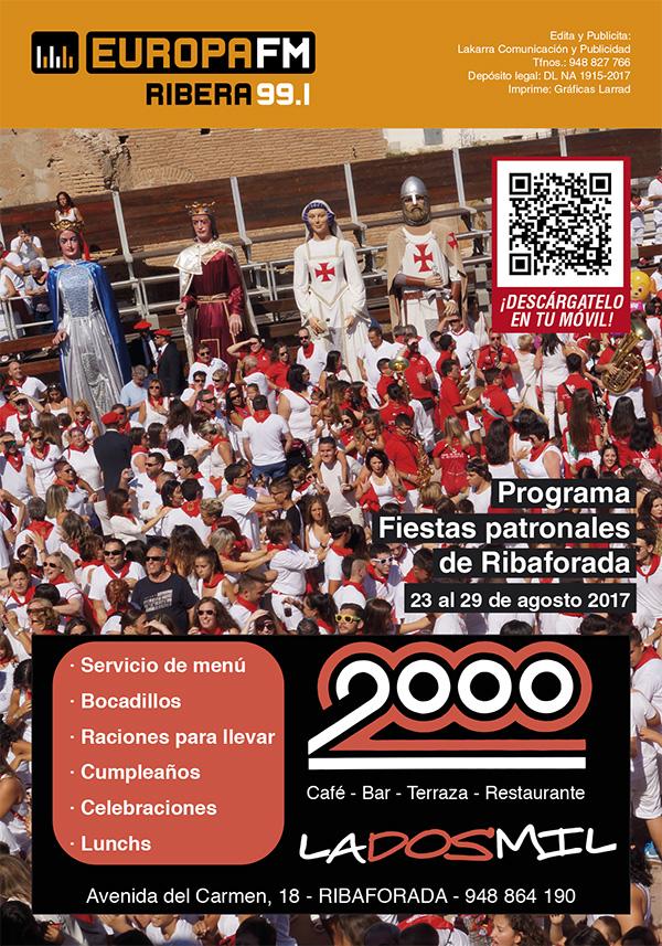 programa de fiestas de Ribaforada San Bartolomé 2017