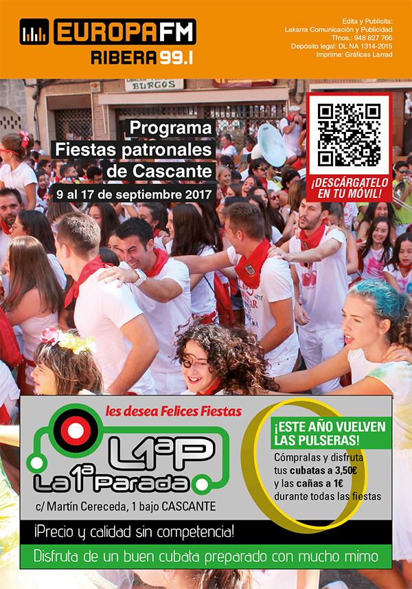 Programa Fiestas de Cascante 2017