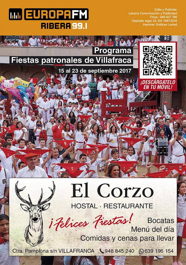 programa EUFM Fiestas de Villafranca 2017